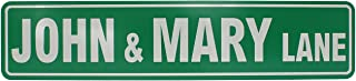 "ExcelMark Custom Street Sign – 4"" x 18"" Aluminum (Green)"