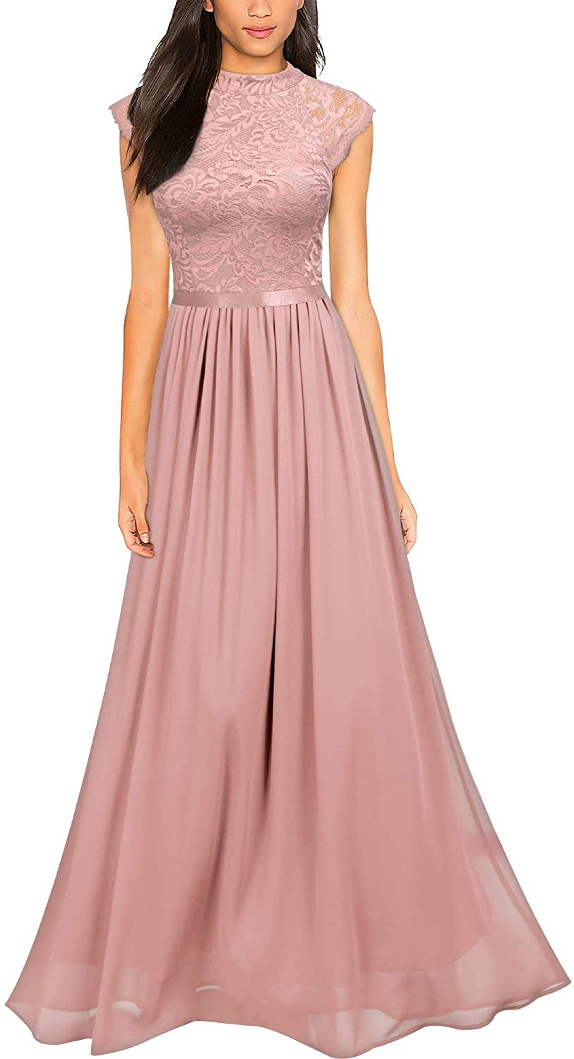 Miusol Women's Formal Sleeveless Floral Bridesmaid Ma Lace All items free shipping Cheap sale Party