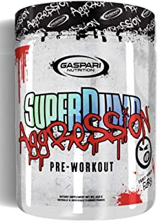 Gaspari Nutrition SUPERPUMP Aggression - Next-GEN PRE-Workout (Fruit Punch Fury, 25 SERV.)