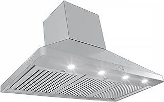 Proline Professional Ducted Wall Range Hood w/chimney - PLJW 129.48-1200 CFM - 48