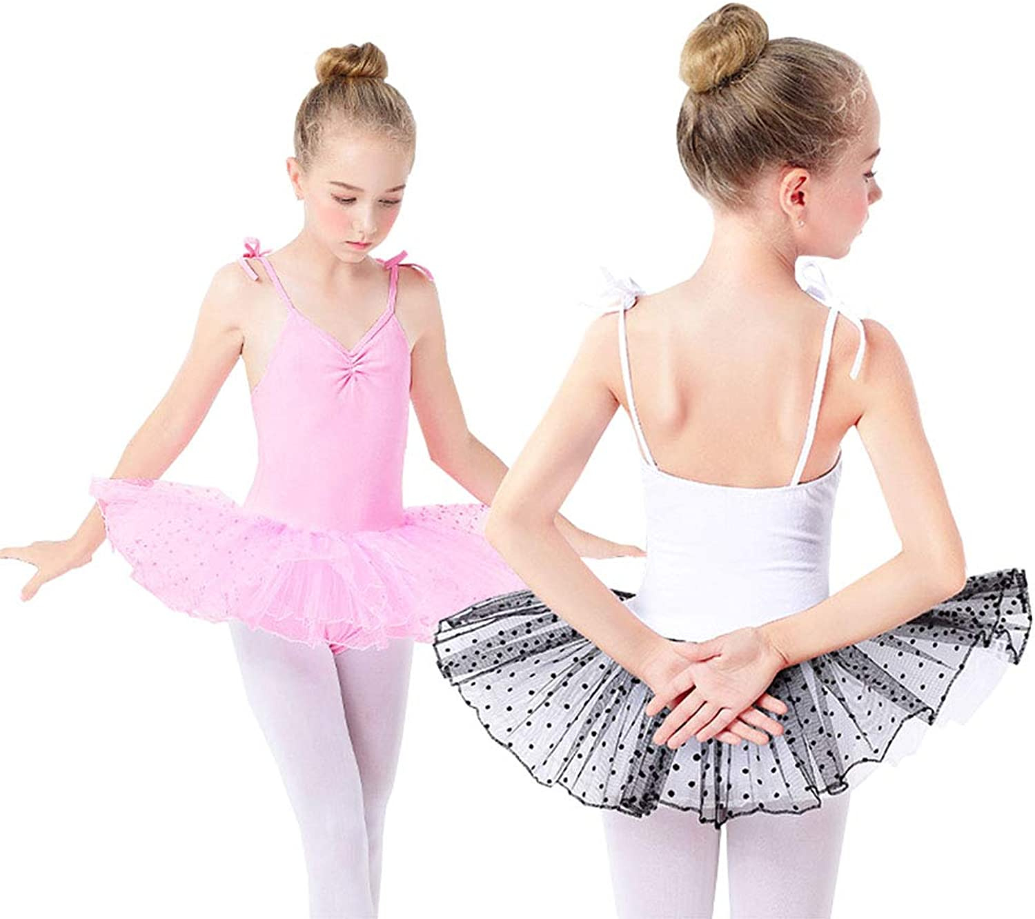 Girls Camisole Ballet Dance Leotard Tutu Dress Skirt Gymnastics Dancing Costumes 213 Year Old