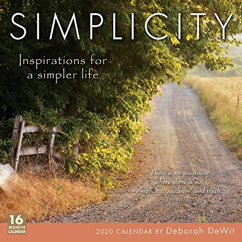 Simplicity 2020 Calendar: Inspirations for a Simpler Life