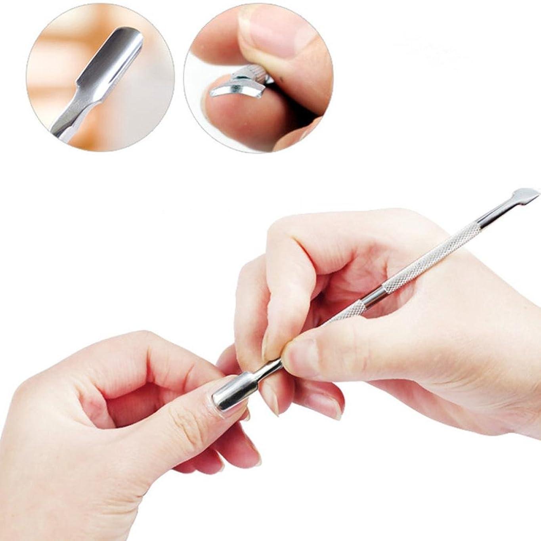 意欲ピカソ虫を数えるSakuraBest 4セットステンレスの角质层は皮を取り除きネイルツール