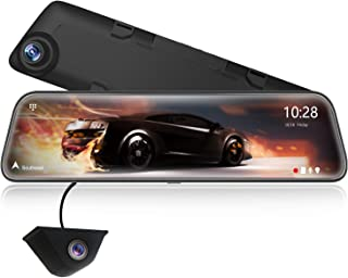 "WOLFBOX 2.5K Mirror Dash Cam of 12"" IPS Full Touch Screen for Cars, Full HD 1440P Front and Rear camera, Dual dash cam wit..."