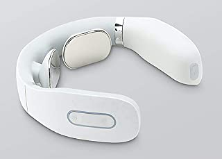 Smart Neck Massager with Heating Function, Wireless 3D Travel Neck Massage Equipment l004 (white)