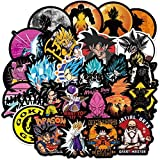 100 pegatinas de Dragon Ball Z, impermeables, diseño de anime para botellas de agua, pegatinas de vinilo para coche, portátil, equipaje, MacBook y monopatín.
