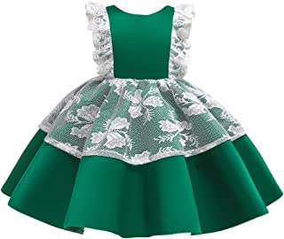 HUAANIUE Baby Toddler Girls Pageant Wedding Dress Sleeveless Party Dresses