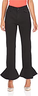 Miss Sixty Flare Trousers For Women - Black