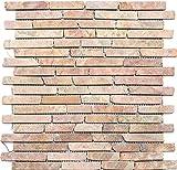 mosaico de red mosaico azulejos Brick Uni rossoverona mármol piedra natural cocina pared azulejos Espejo pared Ver Blender