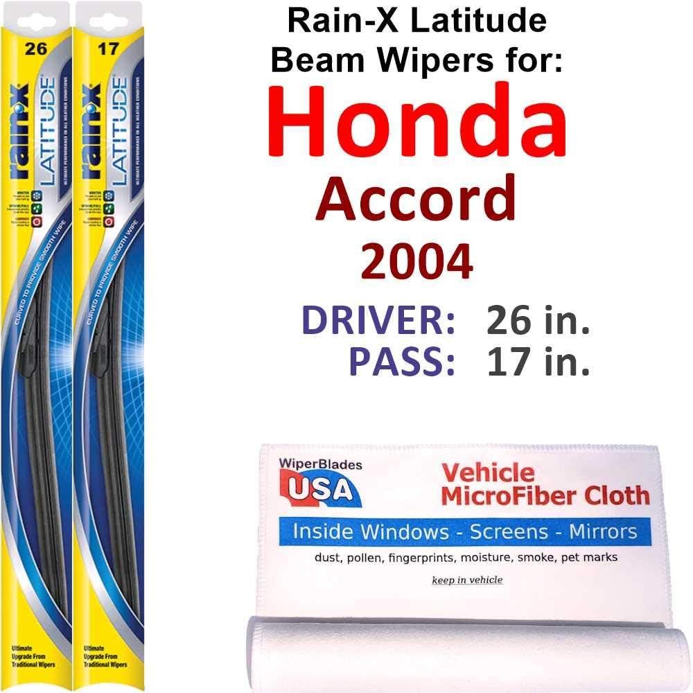Rain-X Latitude Beam Wiper OFFicial site Blades for Honda Accord Set Rain 2004 Recommendation