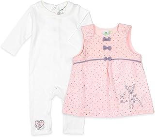 Kleid und Shirt Baby Kleidchen Bambi Rosa Creme Sommerkled Anzug Kombi Set