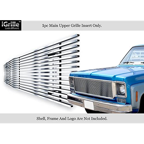 APS Stainless Steel 304 Billet Grille Grill Custome Fits 1973-80 Chevy C/K