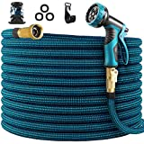 WHIMSWIT 100FT Garden Hose Expandable Hose, Flexible Water Hose with Spray Nozzle, Car Wash Hose...