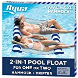 Aqua Catalina XL Hammock, 4-in-1 Multi-Purpose Inflatable 1-2 Person Pool Float, Water Lounge,...