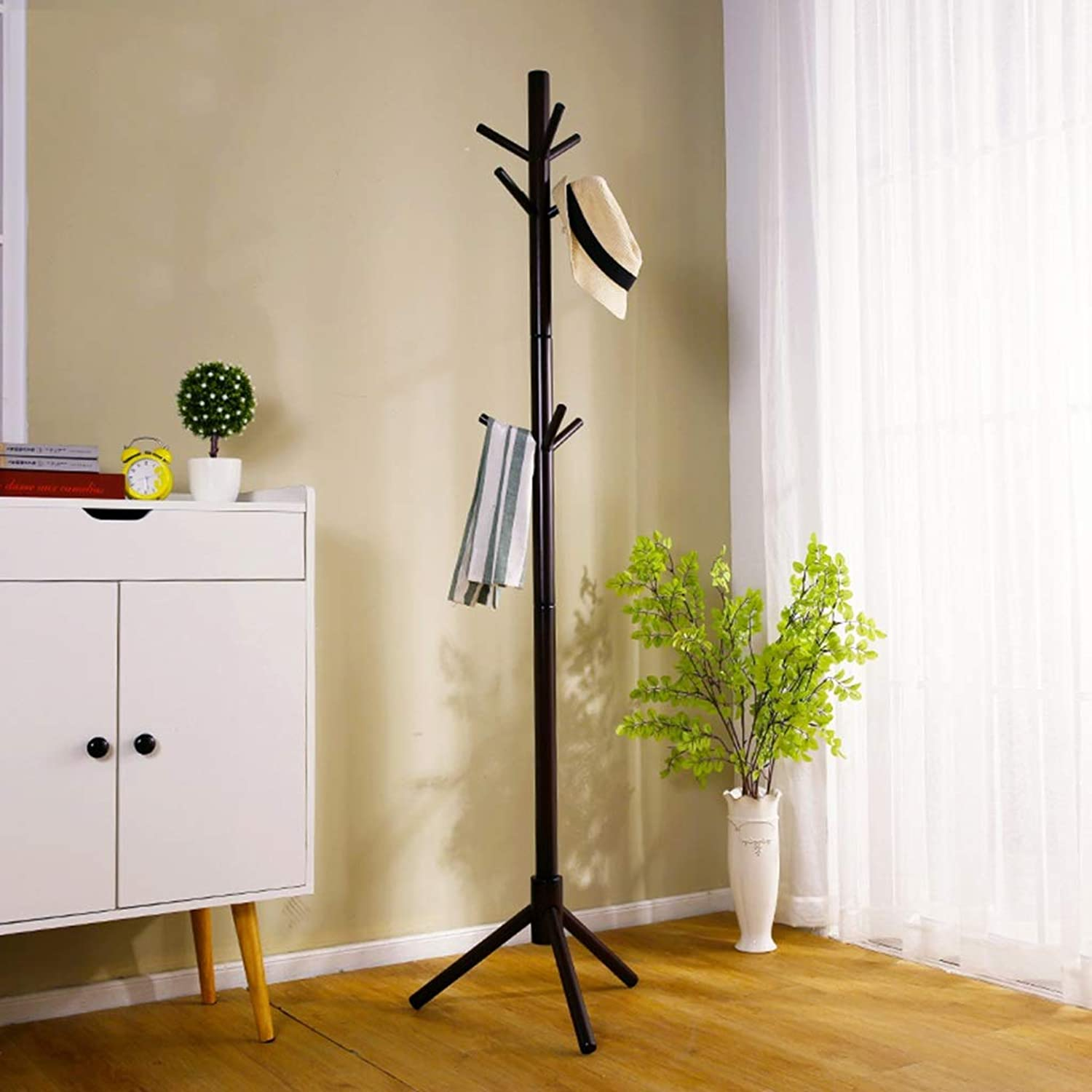 Coat Rack-Floor Solid Wood Coat Rack Home Bedroom Living Room Hanger Rack (color   B)