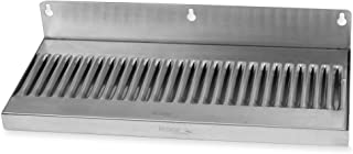 Wall Mount Beer, Soda or Coffee Drip Tray - Stainless Steel - No Drain: 14 x 6 Inches
