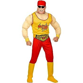 NET TOYS Disfraz Hulk Hogan - Amarillo-Rojo S (ES 48) - Outfit ...
