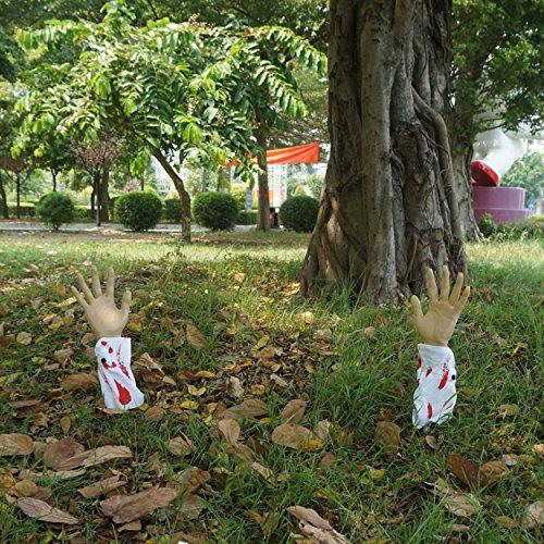 JOYIN Realistic Looking Bloody Arm Lawn Halloween Yard Stakes, Groundbreakers for Halloween Yard Decorations