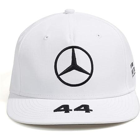 Mercedes Amg Petronas Motorsport 2019 F1 Lewis Hamilton Flatbrim Kappe Weiß Bekleidung