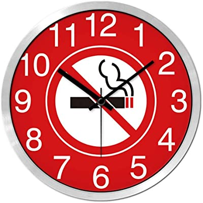 21-KING Clock No Smoking Sign Logo Clock Fast Restaurant Cafeteria Wall Clock Silent Clock