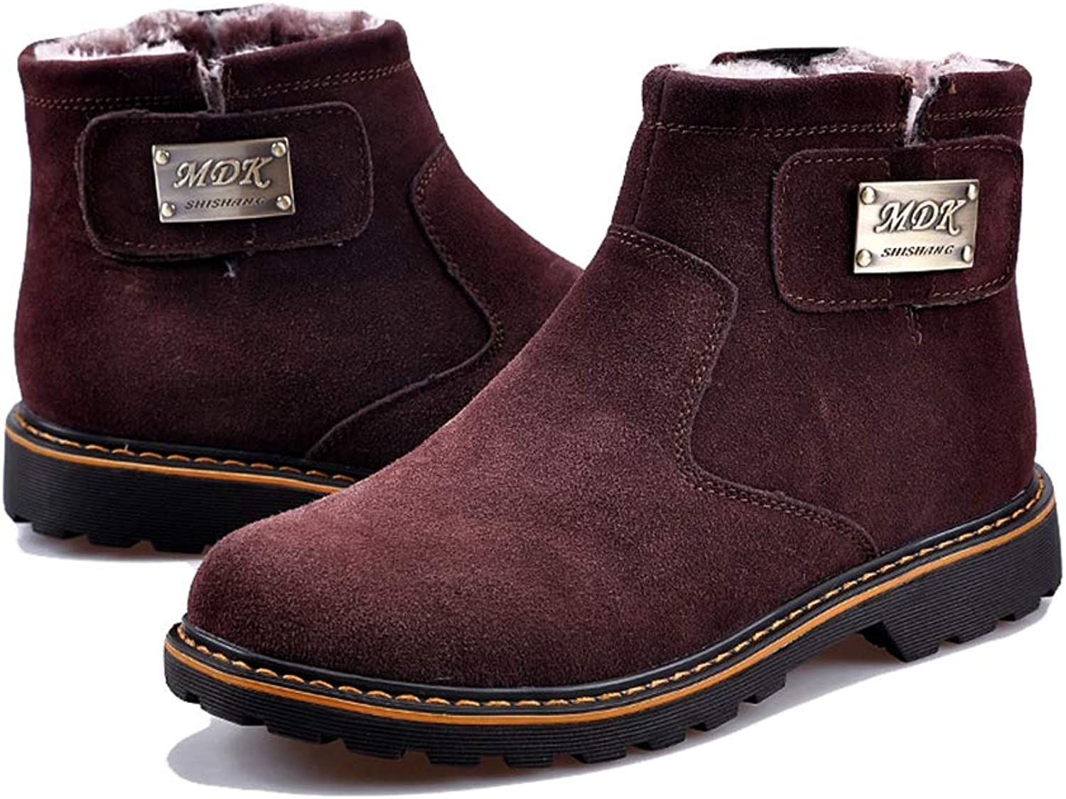 Phil Betty Mens Snow Boots Winter Plus Velvet Warm Non-Slip Wear-Resistant Cotton shoes