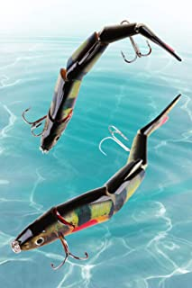 MR FIVE Lifelike Fishing Lures for Large-Mouth Bass 6.3 inches, Multi Jointed Swimbaits Saltwater, Hard Lures Fishing