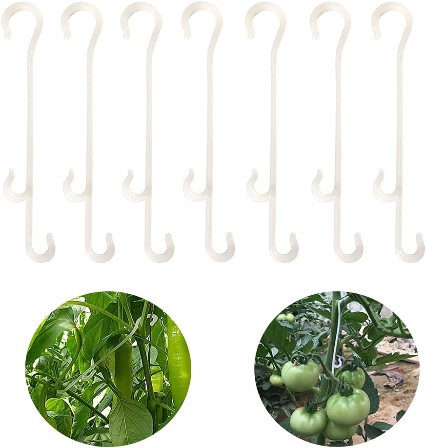 Metulip 100 Pcs 5.1 Inch Tomato Clips Garden Plant Support ...