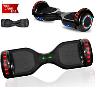 NHT Hoverboard Electric Self Balancing Scooter Hover Board with Build in Hover Board LED Running Lights Safety Certified