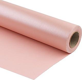 RUSPEPA Różowy matowy papier do owijania - 200 m kw. - jednolity kolor perłowy błyszczący papier idealny na ślub, urodzin...
