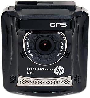 HP Hewlett Packard Full HD 1080P Car Dash DVR with GPS, Black (HPD-F310-VP)