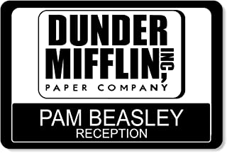 Large Dunder Mifflin Name Tags Halloween Name Tags, Custom The Office Name Tags