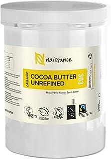 Naissance Beurre de Cacao Brut BIO (n° 303) - 1kg - 100% pur et naturel, non-raffiné, arôme gourmand - végan et sans OGM