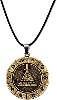 Inveroo Classic Anime Gravity Falls Bill Cipher Boss Necklace Pendant Cosplay Collection Metal Gravity Falls Logo Choker