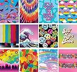 Artivo Indie Wall Decor Prints, 12 Sets 20 x 25 cm, Indie Art Poster, Kidcore Wall Collage Kit, Schlafzimmer Decor für Jugendliche, Mädchenzimmer, ungerahmte Poster