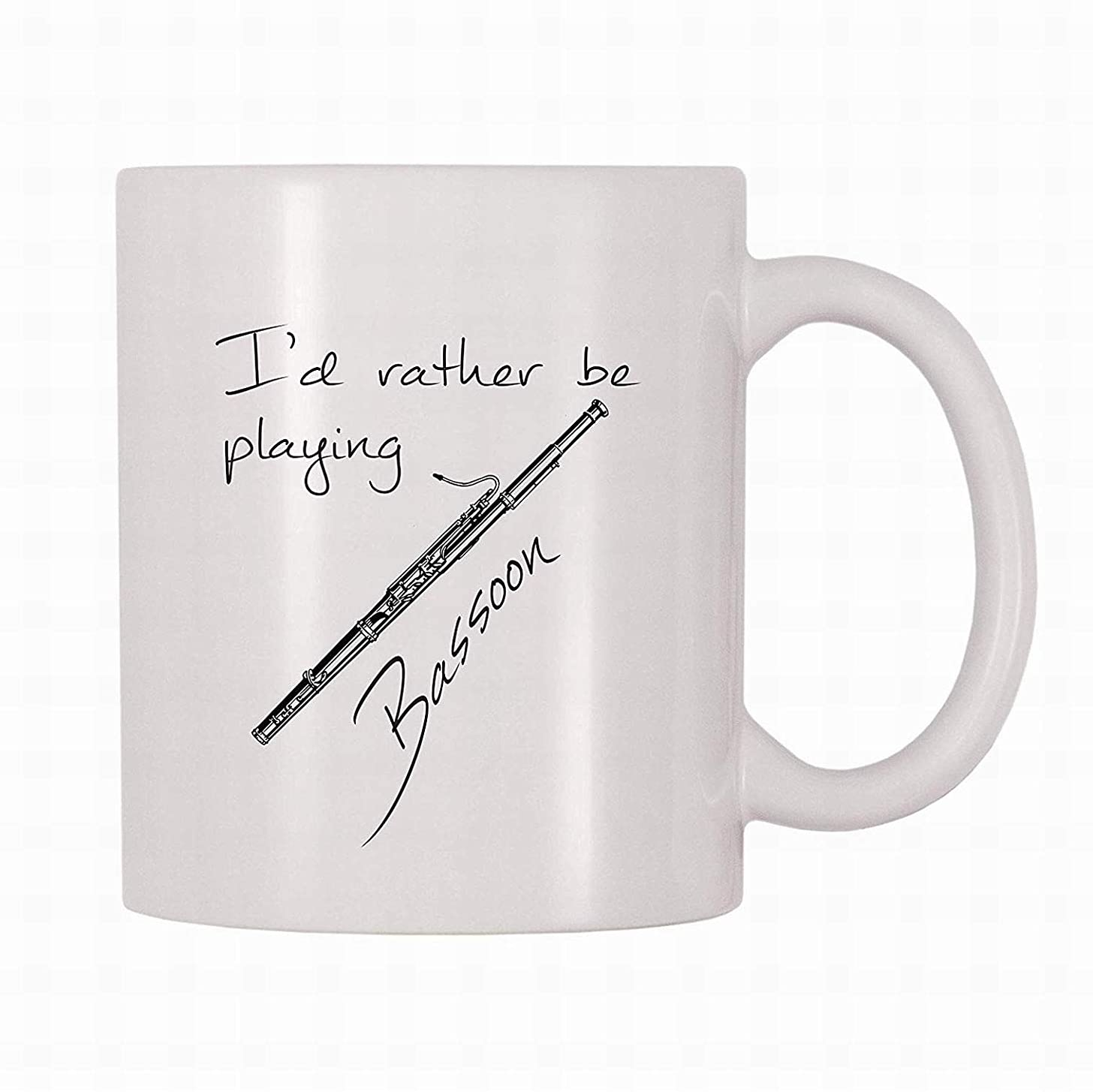 Funny Cute Gift Coffee Mug 11 OZ Id Rather Be Playing Bassoon Water Milk Tea Mug Cup for Home Family Office by LoMall