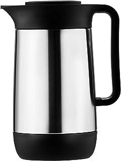 Helios Stainless Steel Vacuum Flask Silver Black 0.6 Liter 6532-5002
