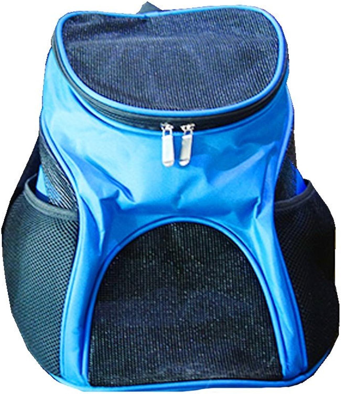 Pet Travel Bag Dog Bag Cat Bag Portable Pet Bag Back Dog Bag Cat Bag Net Top Opening bluee (Size   S)