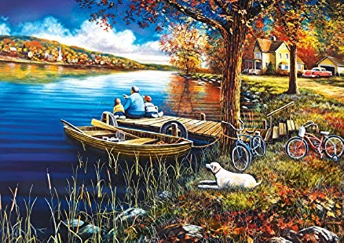 Buffalo Games A Day On The Dock Jigsaw Puzzles (500 Piece) by Buffalo Games