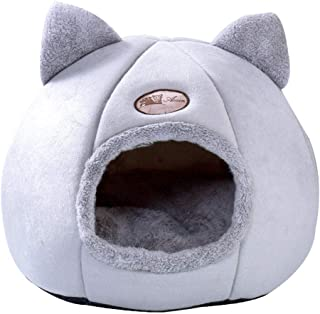 Pet Bed Cat & Dog Bed Cave Ultra Soft Bed Pets Comfortable Bed for Cat Small Dog Cosy Bed Pets Igloo Bed Hideout Cave