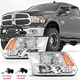 ACANII - For 2009-2018 Dodge Ram 1500 2500 3500 Factory Quad Style Headlights Headlamps 09-18 Driver + Passenger Side