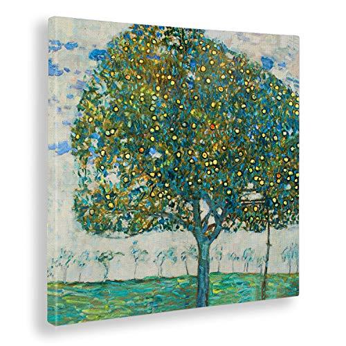 Giallobus - Bild - Gustav Klimt - Apfelbaum II - Druck auf Leinwand - Bereit zum Aufhängen - Verschiedene Größen- 50x50 cm