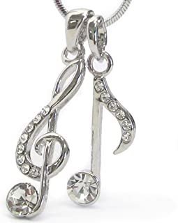 Lola Bella 礼品高音谱音符项链,带礼品盒