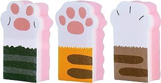 Toplife 猫の手 キッチンスポンジ 3個セット 2層構造 台所 食器洗いスポンジ(ソフトタイプ)