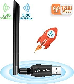 「2019最新版」Carantee WiFi 無線LAN子機 1200Mbps USB3.0 5dBi用 デュアルバンド 2.4G/5G 802.11ac技術 360°回転アンテナ Windows10/8/7/XP/Vista/Mac対応