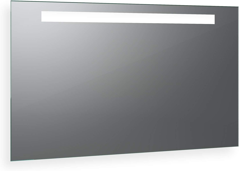 Biella Design  LED BADSPIEGEL mit Beleuchtung - Made in Germany - und zustzlicher Waschbeckenbeleuchtung - individuell nach Ma - Auswahl  (Breite) 40 cm x (Hhe) 70 cm - Modell  2205503