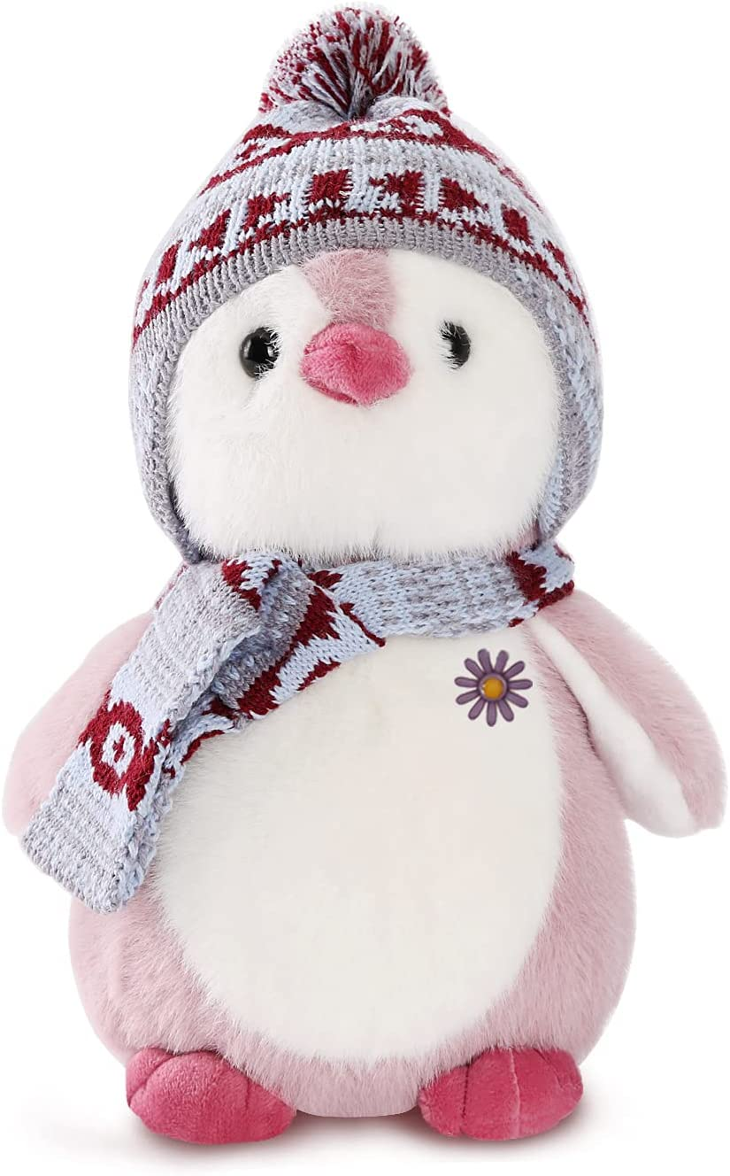 keaiart-ly Plush Penguin Price excellence reduction Stuffed Animal and Scarf 10in with Hat