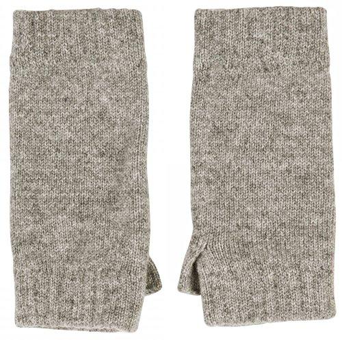 Cashmere Sock House - Scotland Mitaines 100 % cachemire Gris doux