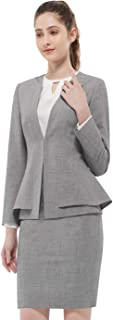 Women Business Suit Set for Office Lady Two Pieces Slim Work Blazer & Skirt