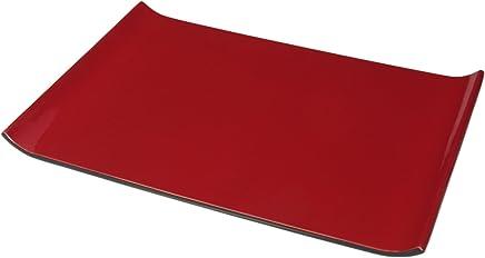 Preisvergleich für LAQ Design - Tablett, Rechteckig, Holz, mit und ohne Applikation, Lacquerware (Rot)