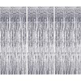 heavenlife 3 Pezzi Tende Metalliche Tinsel, Foil Tenda Metallici Orpello Lamina Frange, Sc...